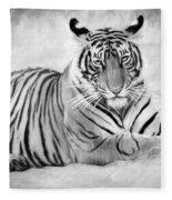 Tiger Cub At Rest Fleece Blanket