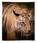 Tiger Cub Fleece Blanket