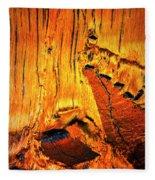Tiger Eye Macro Fleece Blanket