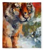 Tiger Hotty Totty Style Fleece Blanket