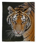 Tiger Hunting Fleece Blanket