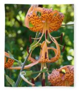 Tiger Lilies Art Prints Canvas Summer Tiger Lily Flowers Fleece Blanket