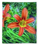 Tiger Lilies Fleece Blanket