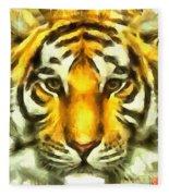 Tiger Painted Fleece Blanket