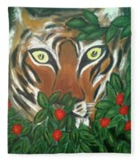 Tiger Prey  Fleece Blanket