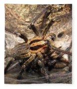 Tiger Spider  Fleece Blanket