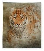 Tiger Splash Fleece Blanket