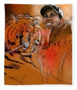 Tiger Woods Or Earn Your Stripes Fleece Blanket