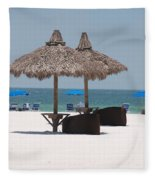 Tiki On The Gulf Fleece Blanket