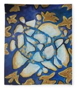 Tikkun Olam Heal The World Fleece Blanket