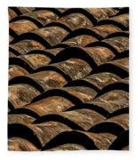Tile Roof 4 Fleece Blanket