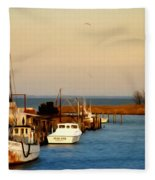 Tilghman Island Maryland Fleece Blanket