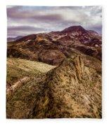Tilt-shift Mountain Peak Fleece Blanket