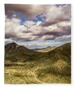 Tilt-shift Mountain Road Fleece Blanket