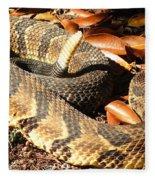 Timber Rattlesnake Horizontal Fleece Blanket