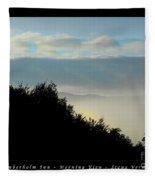Timberholm Inn Morning View Stowe Vt Poster Fleece Blanket