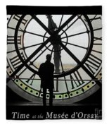 Time At The Musee D'orsay Fleece Blanket