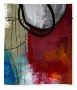 Time Between- Abstract Art Fleece Blanket