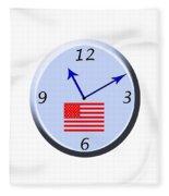 Time For Patriotism Fleece Blanket
