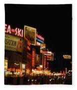 Time Square 1956 Fleece Blanket
