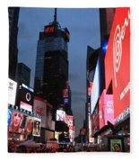 Time Square New York City Fleece Blanket