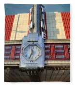 Time Theater Marquee 1938 Fleece Blanket