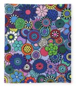 Time To Bloom Fleece Blanket