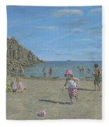 Time To Go Home - Porthgwarra Beach Cornwall Fleece Blanket