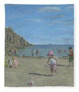 Time To Go Home - Porthgwarra Beach Cornwall Fleece Blanket
