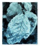 Time Travel Winter Leaves Fleece Blanket