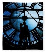 Timeless Love - Midnight Blue Fleece Blanket