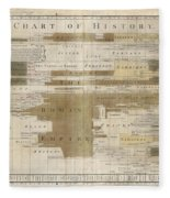 Timeline Map Of The Historic Empires Of The World - Chronographical Map - Historical Map Fleece Blanket
