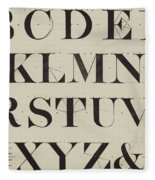 Times New Roman Fleece Blanket