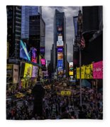 Times Square From The Steps Fleece Blanket