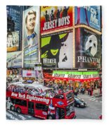 Times Square II Fleece Blanket