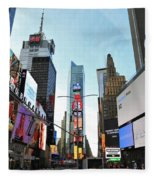 Times Square New York City Fleece Blanket
