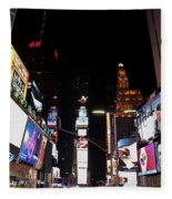 Times Square New York City New Years Eve Fleece Blanket