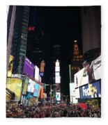 Times Square On A Tuesday. Fleece Blanket