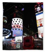 Times Square On News Year Eve Fleece Blanket