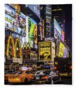 Times Square Pano Fleece Blanket