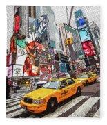 Times Square Pop Art Fleece Blanket
