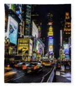 Times Square Traffic Fleece Blanket