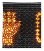 Times Up Sign With Text Fleece Blanket