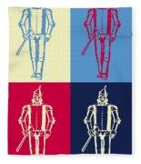 Tin Man Pop Art Poster Fleece Blanket