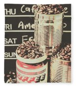Tin Signs And Coffee Shops Fleece Blanket