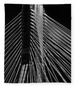 Ting Kau Bridge Hong Kong Fleece Blanket
