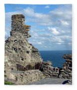 Tintagel Castle 1 Fleece Blanket