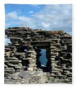 Tintagel Castle 3 Fleece Blanket