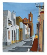 Tintin En Puerto Real Fleece Blanket