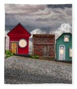 Tiny Houses On Walnut Street Fleece Blanket